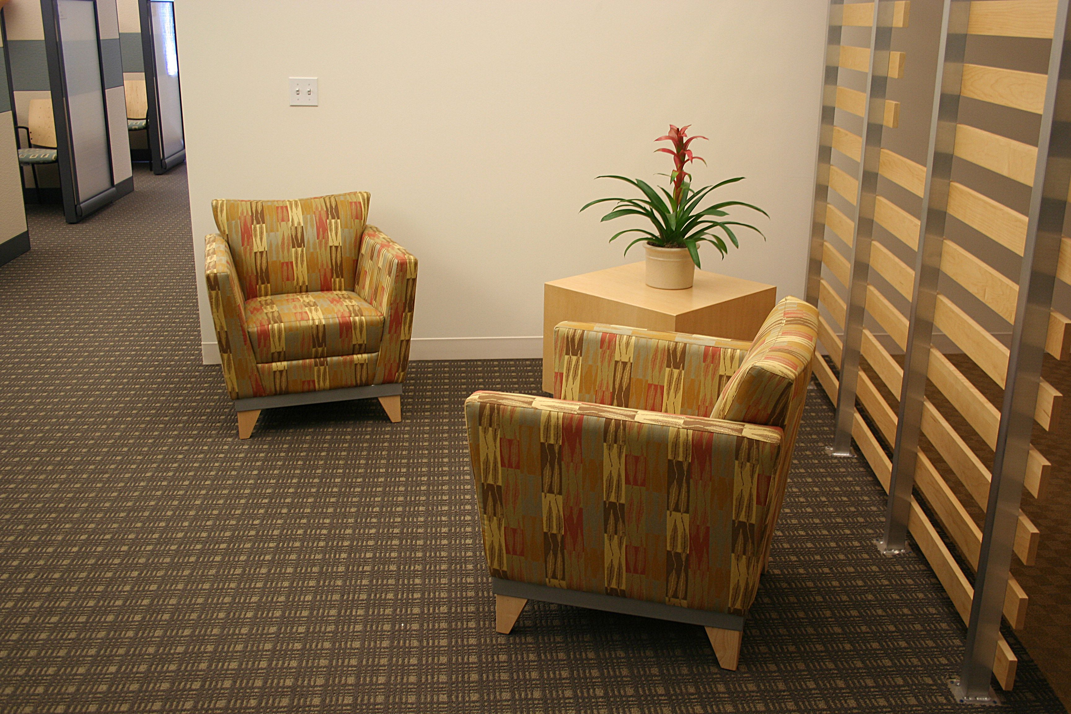 A little nook with a pair of easy chairs