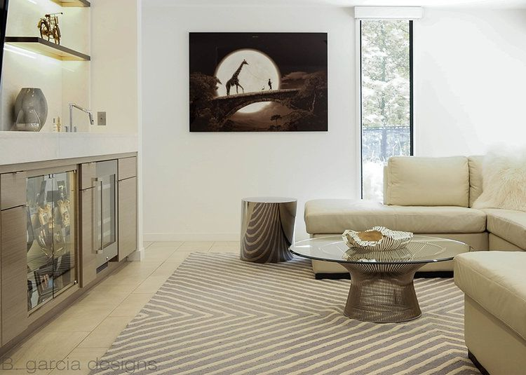 a neutral living room looks like one you might see on Selling Sunset