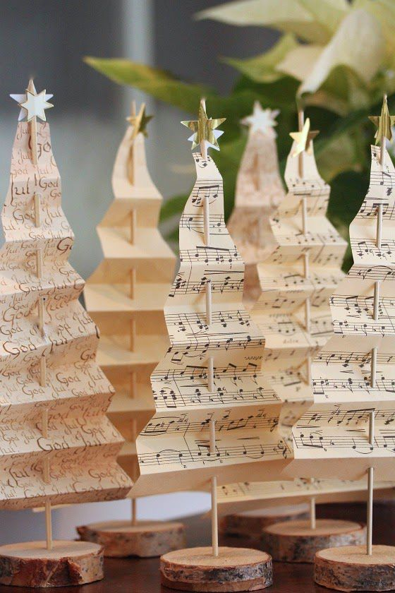Music Themed Christmas Ornaments.22 Pretty Christmas Table Decorations And Settings