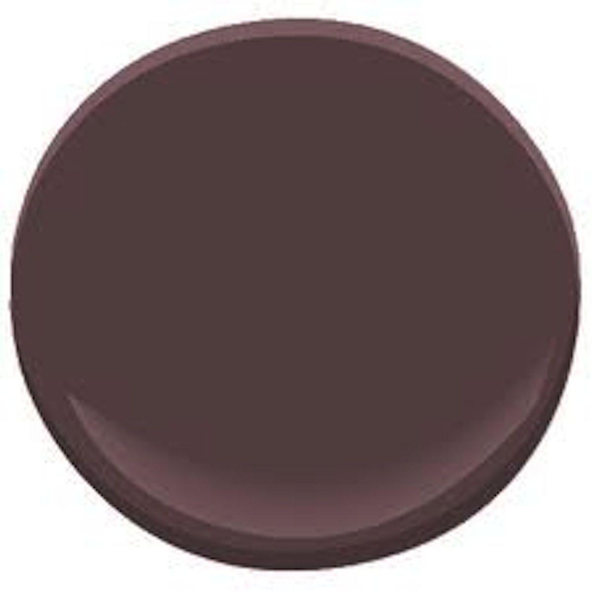 A Sample Of Dark Walnut 1358 Benjamin Moore S Is Deep Muted Purple Mid Century Modern Paint Color