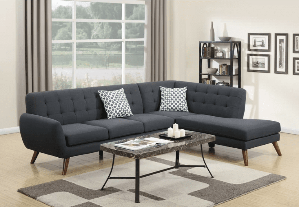Best Design Poundex Bobkona Belinda Sectional