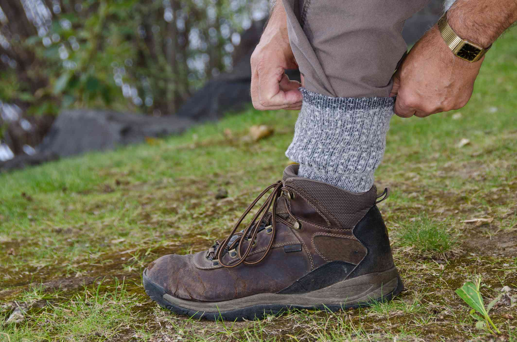Protect yourself from chiggers with pants and boots