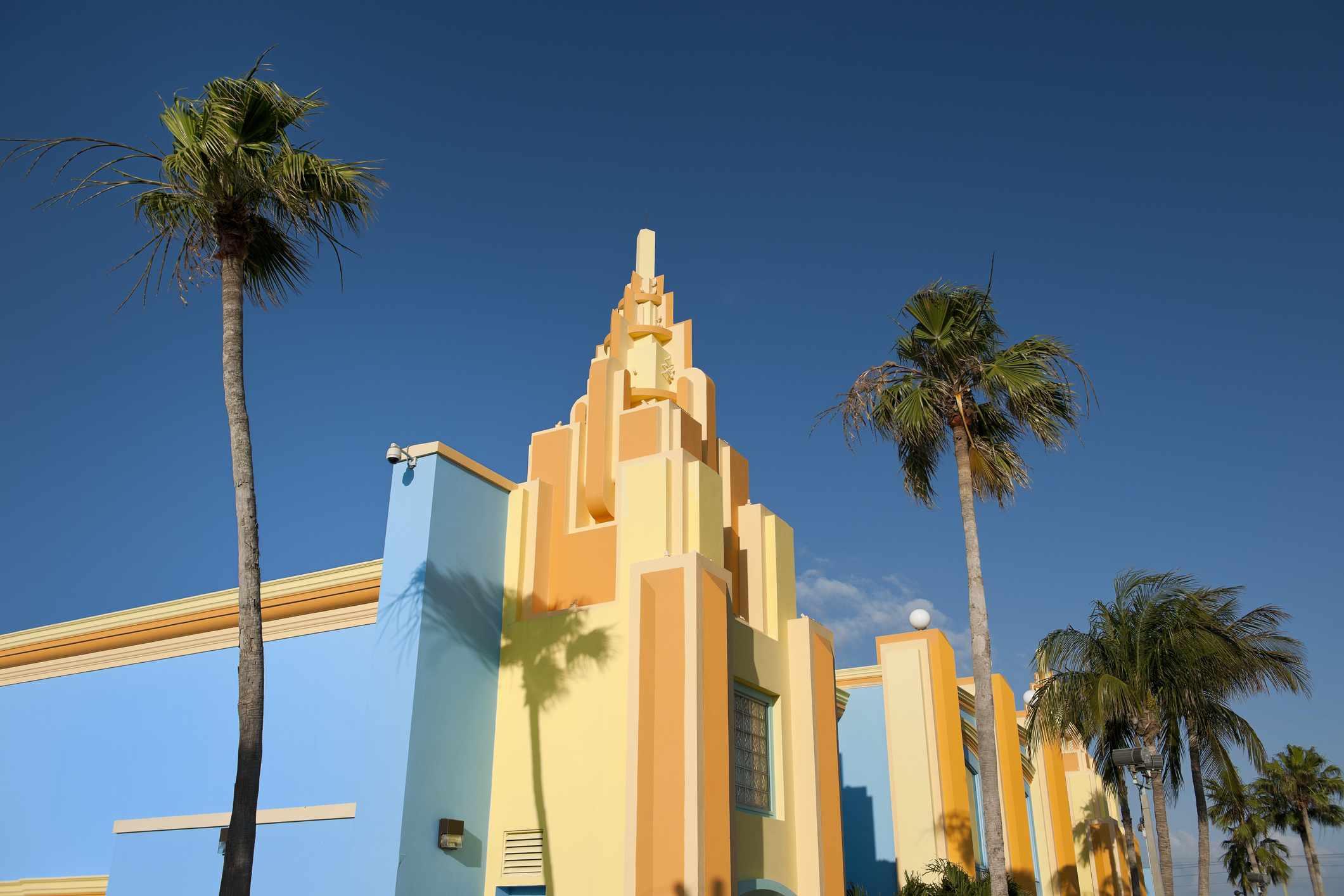 Art Deco structure in Miami