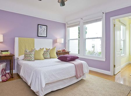 Lavender Bedroom Walls