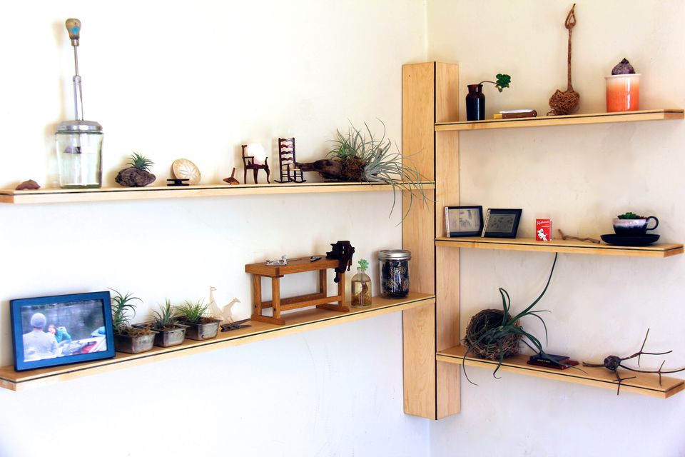 Diy Narrow Corner Shelves