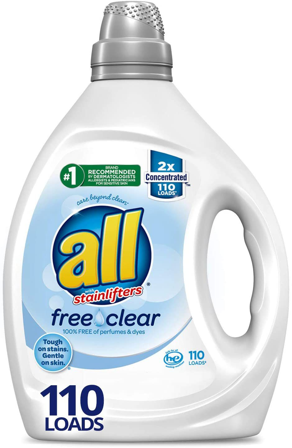 all Liquid Laundry Detergent, Free Clear for Sensitive Skin