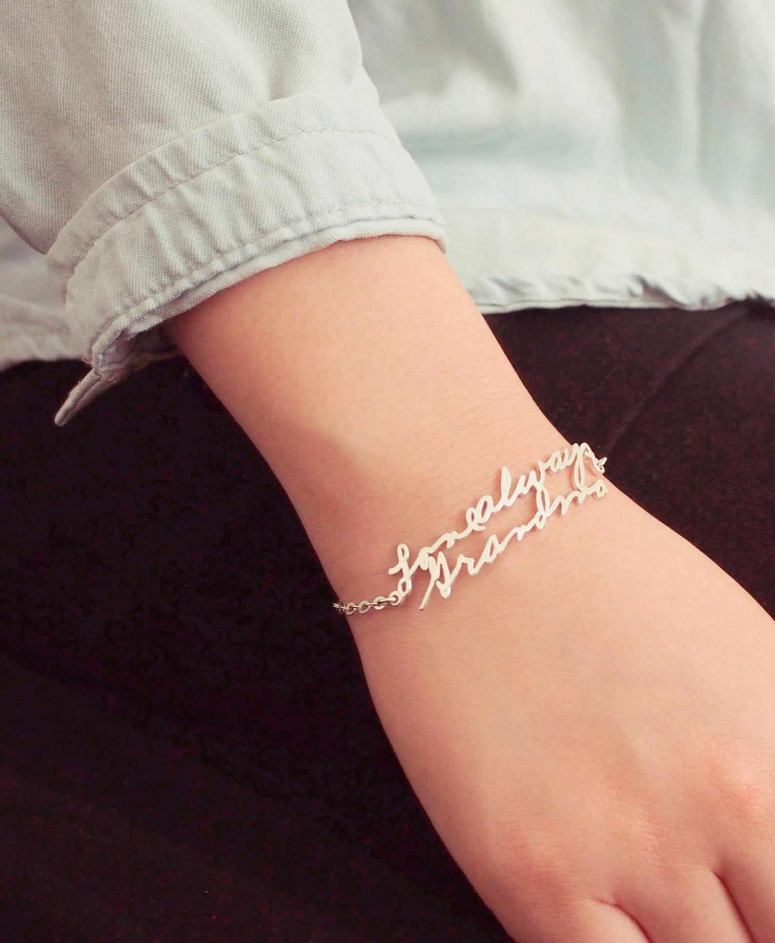 Custom Handwriting Bracelet