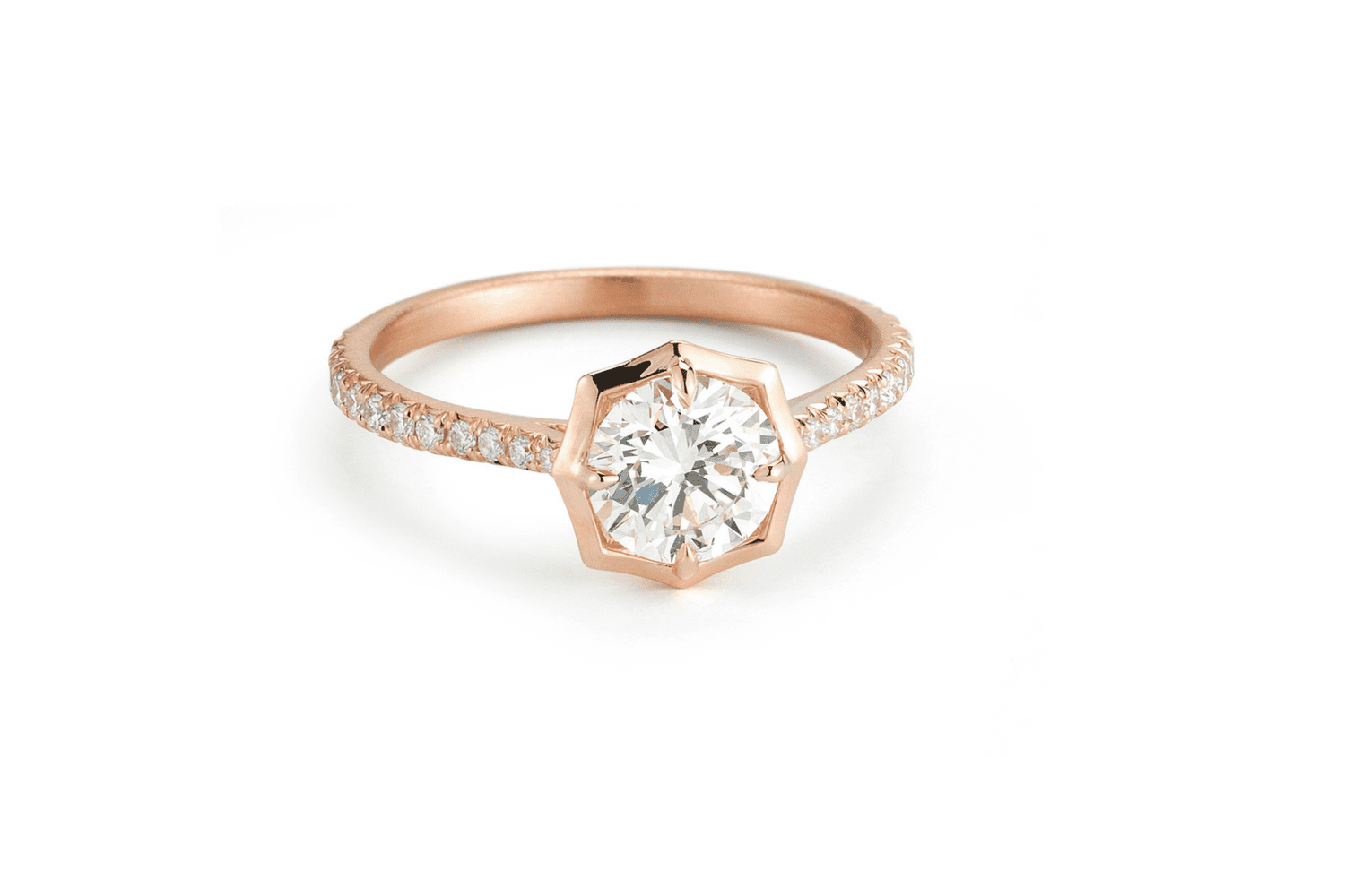 0650ede9f88 The Most Ravishing Rose Gold Engagement Rings on the Planet