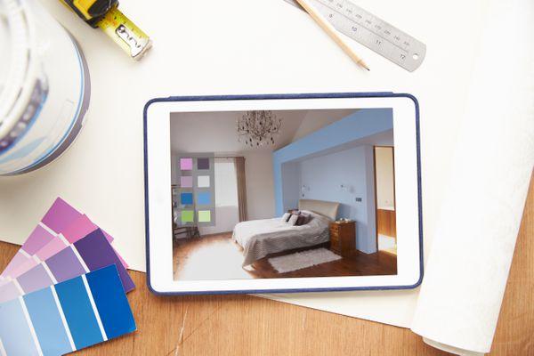 Interior Design Application On Digital Tablet