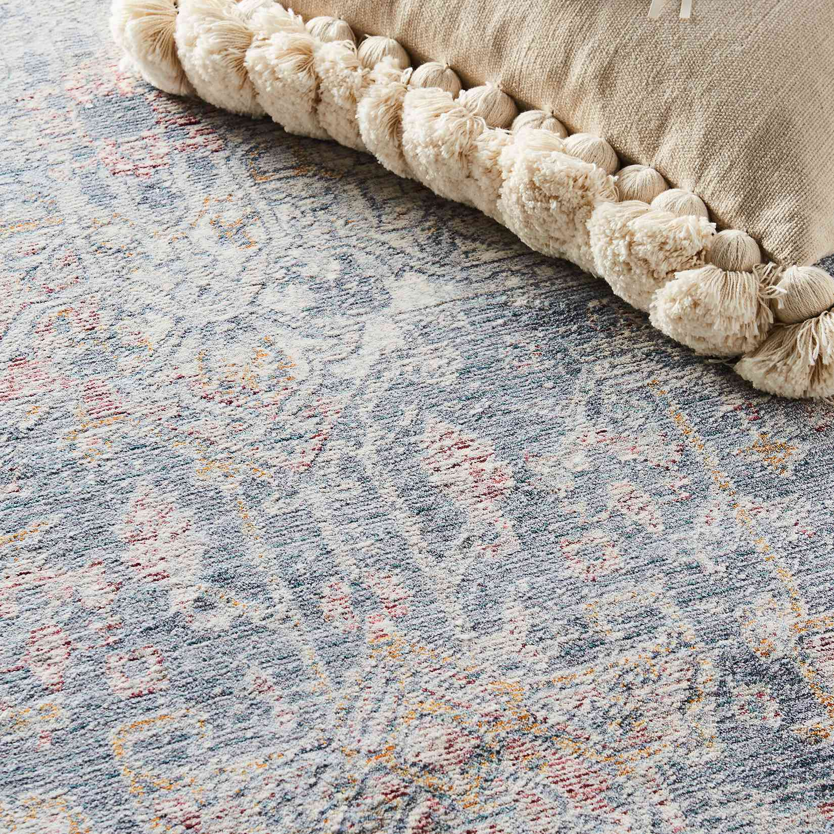 Isabel alfombra en azul