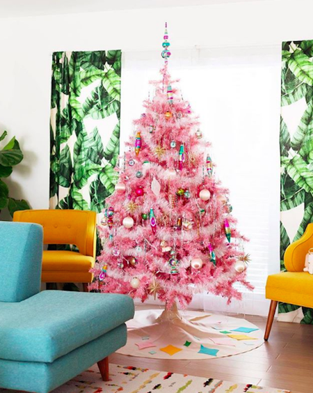 Bright Neon Pink Christmas Tree