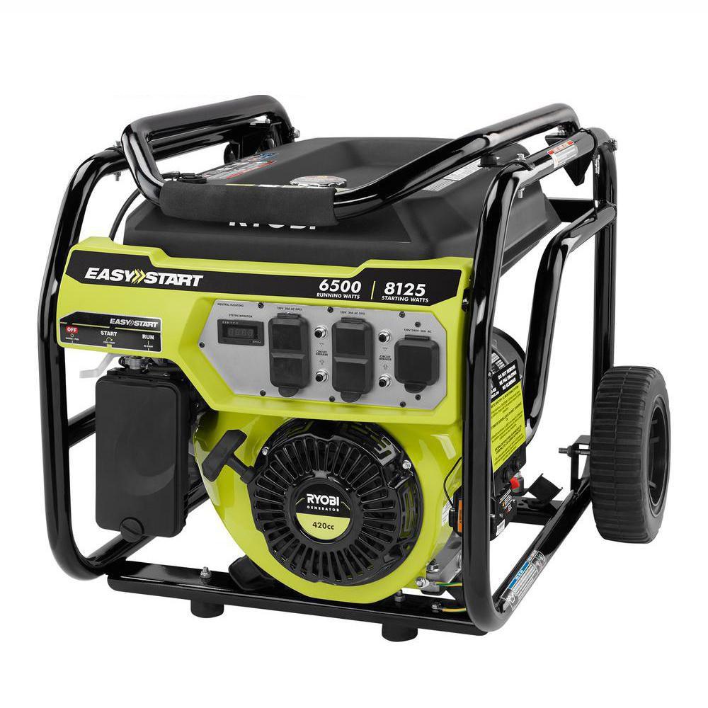 Ryobi 6,500-Watt Portable Generator