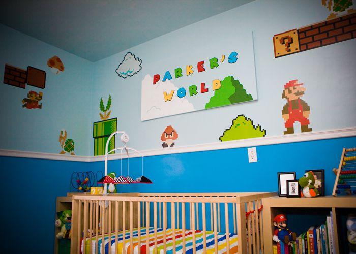 Super Mario-themed nursery