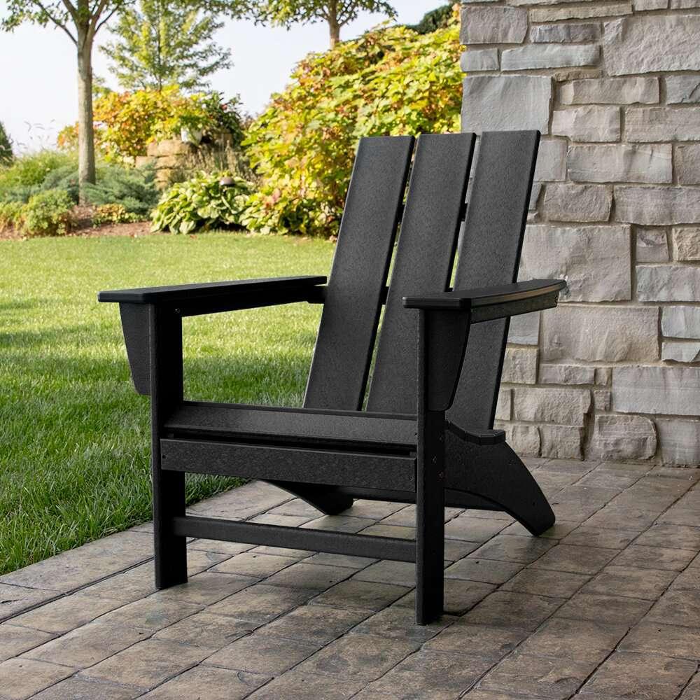 Polywood Modern Adirondack Recycled Plastic Chair