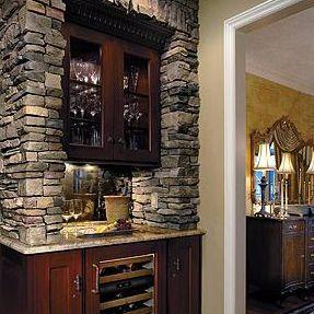 Veneer Stone Bar Surround