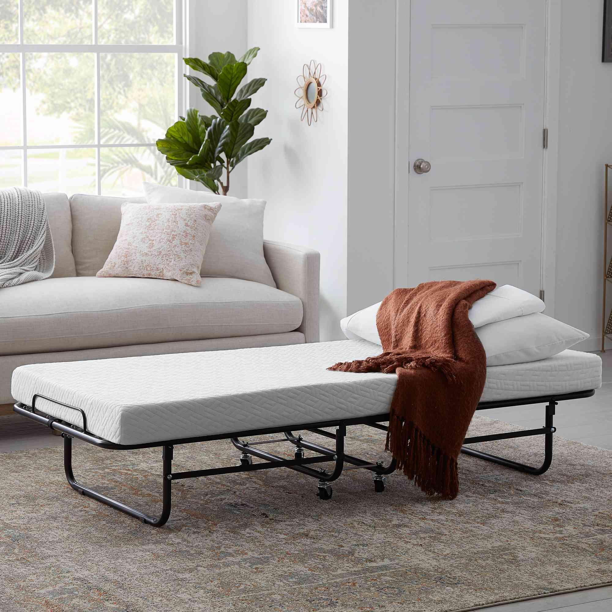 Rest Haven Suspension Rollaway Bed with Gel Memory Foam Mattress