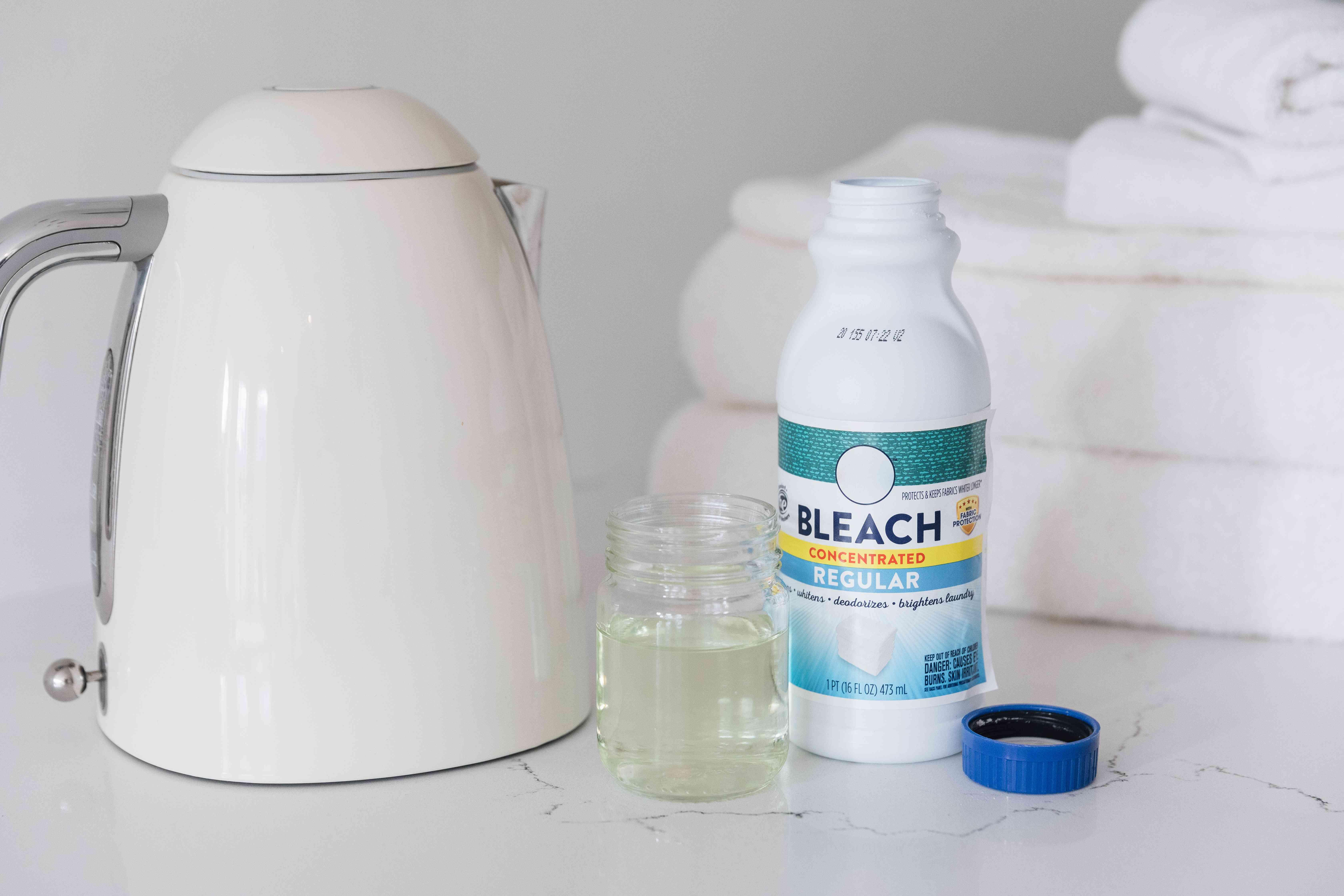kettle next to bleach