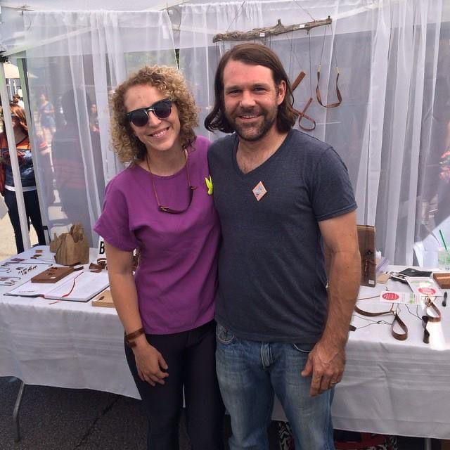 Katie Thompson and her husband at the Renegade Craft Fair in Chicago