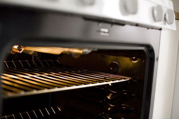 Close up of a grill inside oven