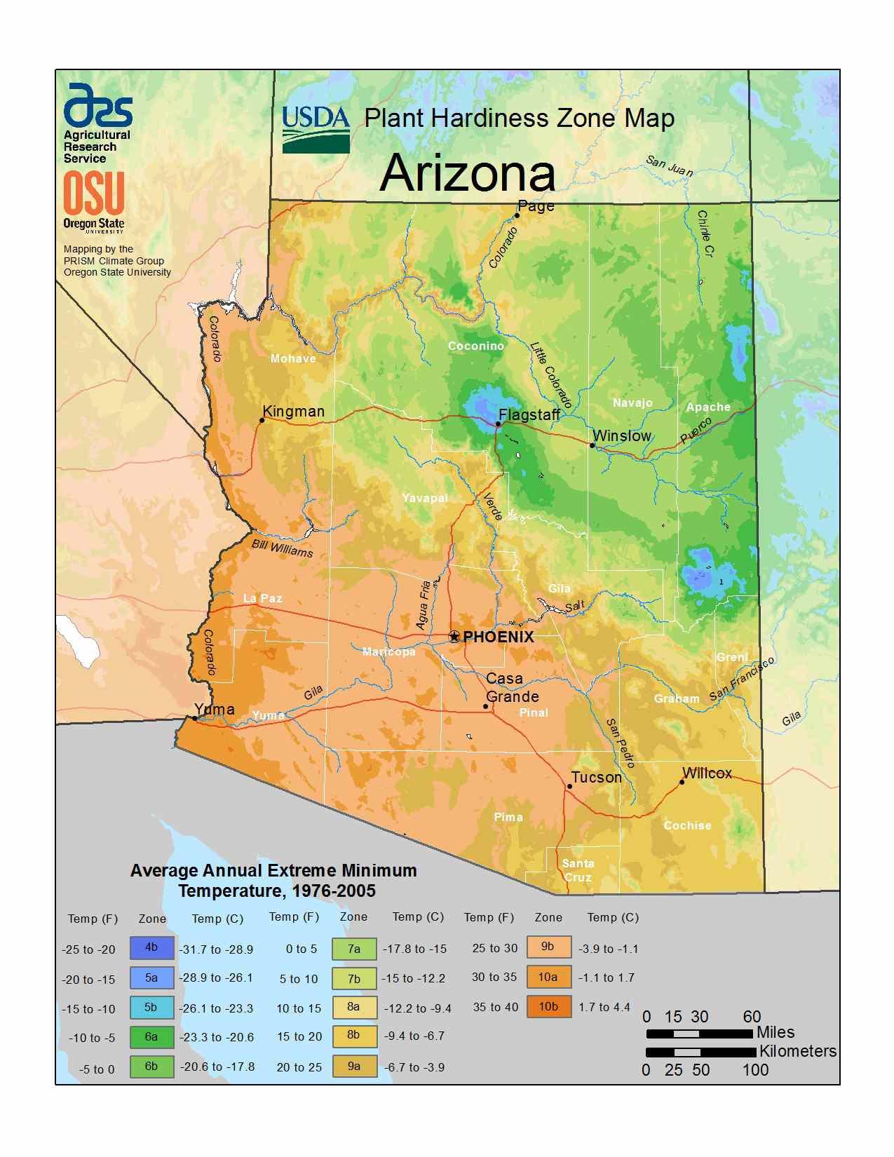 Photo of the Arizona Hardiness Zones
