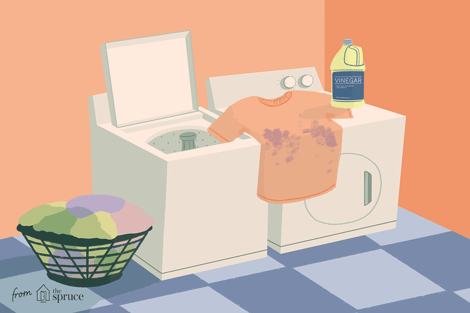 how to remove laundry stains with vinegar illustration