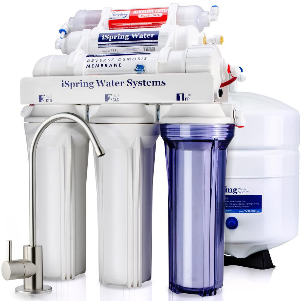 iSpring RCC7AK 6-Stage Under Sink Reverse Osmosis Water Filter System