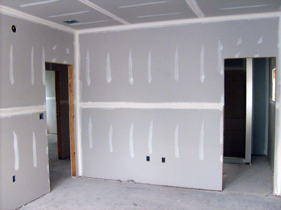 Unfinished Drywall