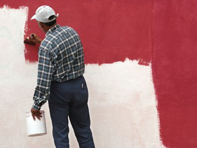 Painting on Top of Wallpaper