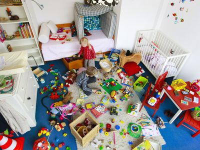 Children's messy nursery room