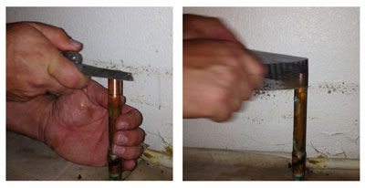 Clean copper pipe before capping