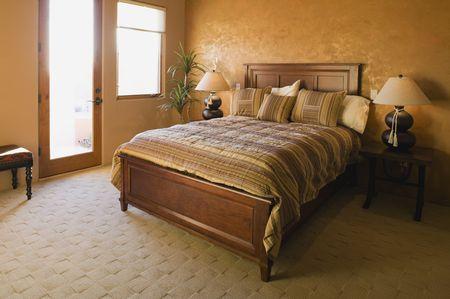 Contemporary Tuscan Bedroom Design