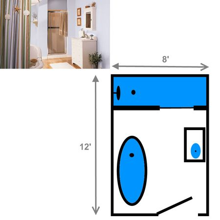 Bathroom Plans With Shower And Tub