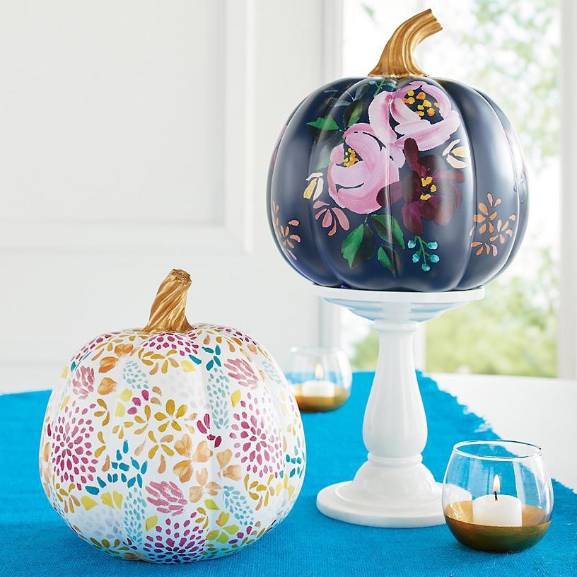 designer-floral-pumpkins