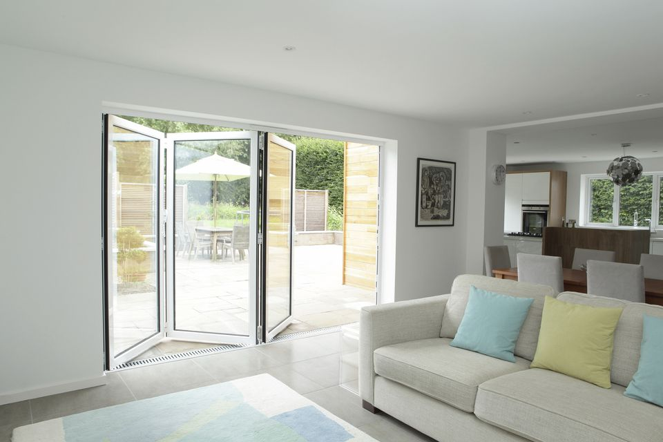 Bi fold door that leads out to patio