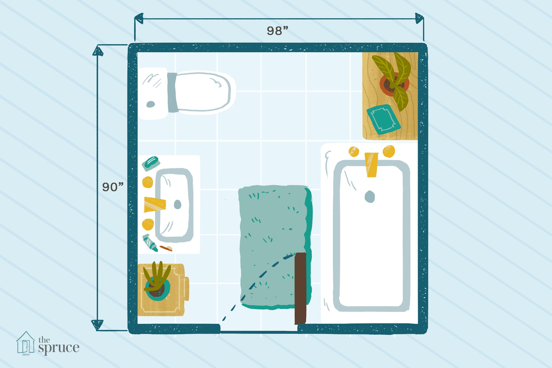 9x6 bathroom layout