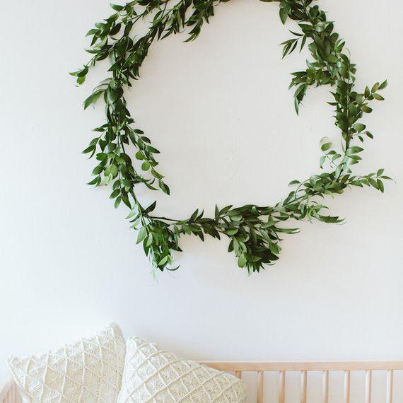 Wreath above a crib