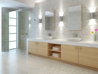 A modern-style bathroom