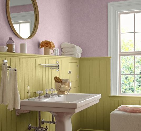 Yellow And Pink Bathroom Paint Colors