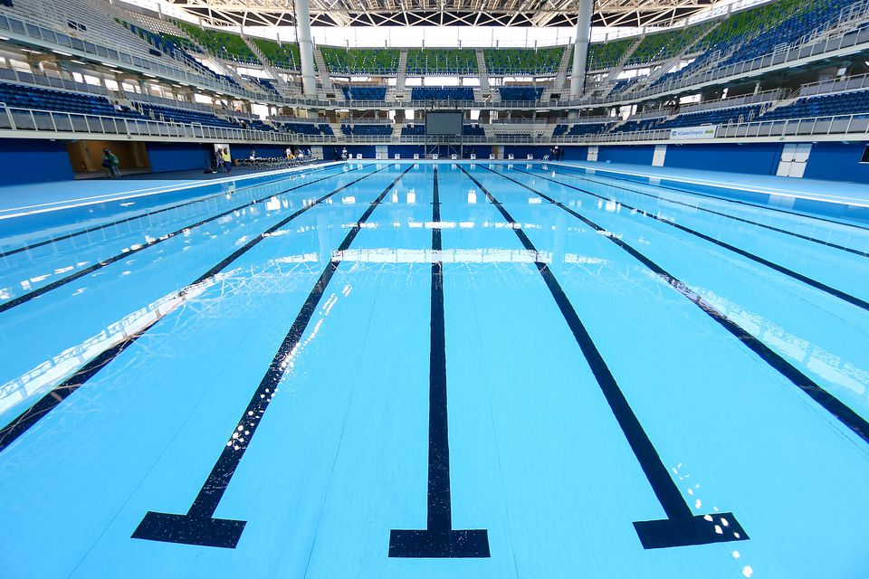 Rio olympic swimming pool