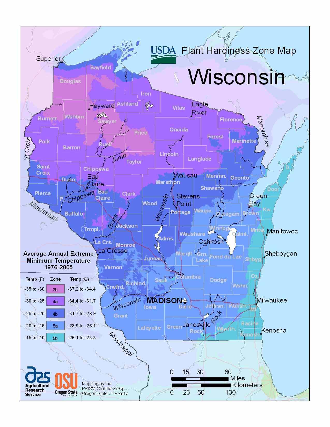 Photo of the Wisconsin Hardiness Zones