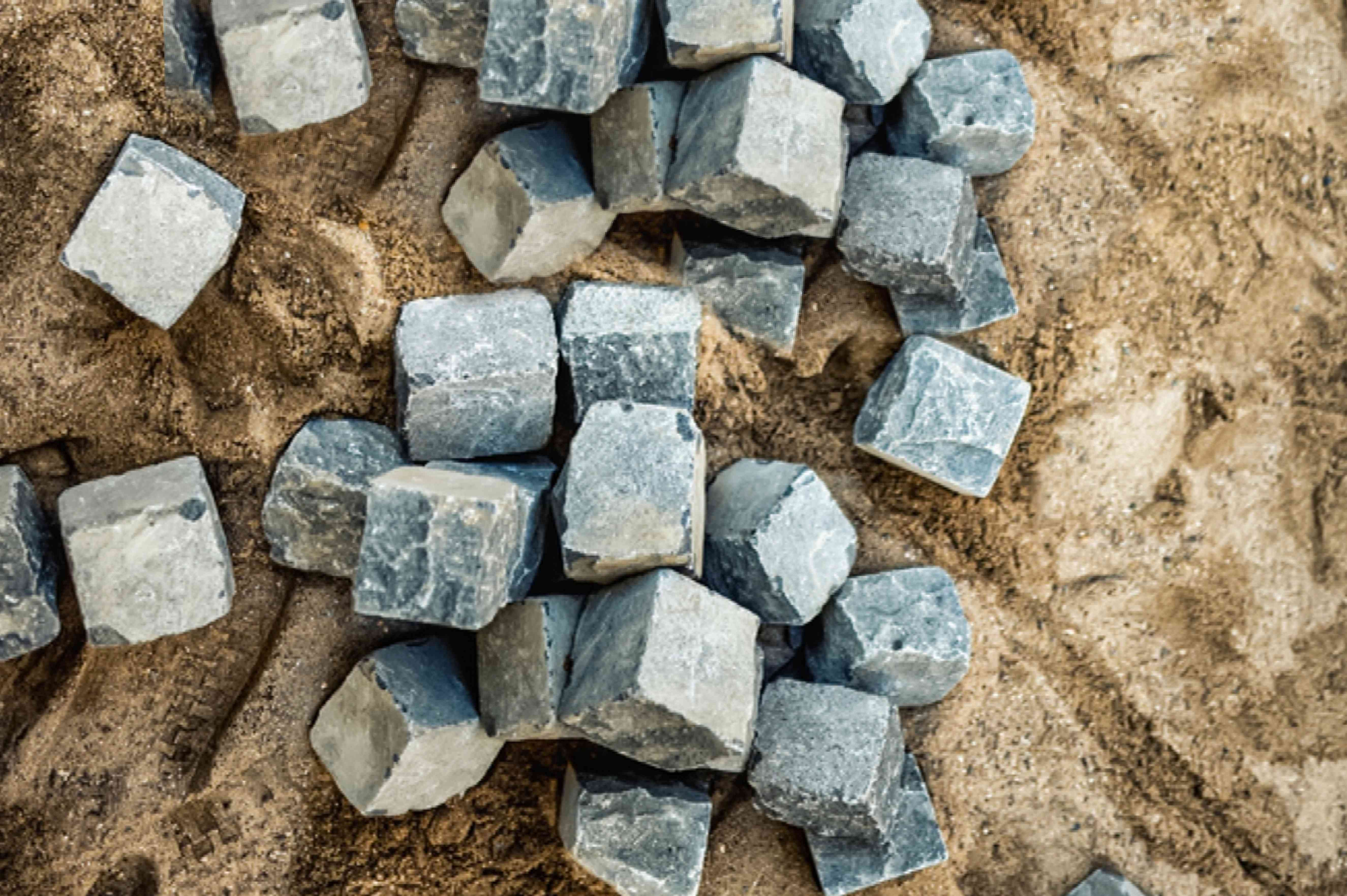 rocks at a construction site
