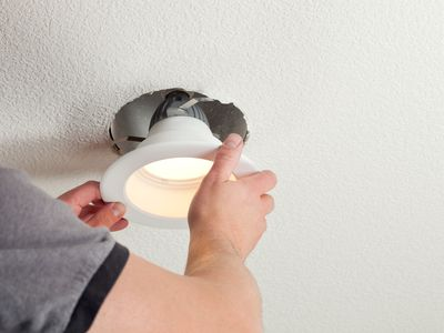 Installing recessed lighting in ceiling