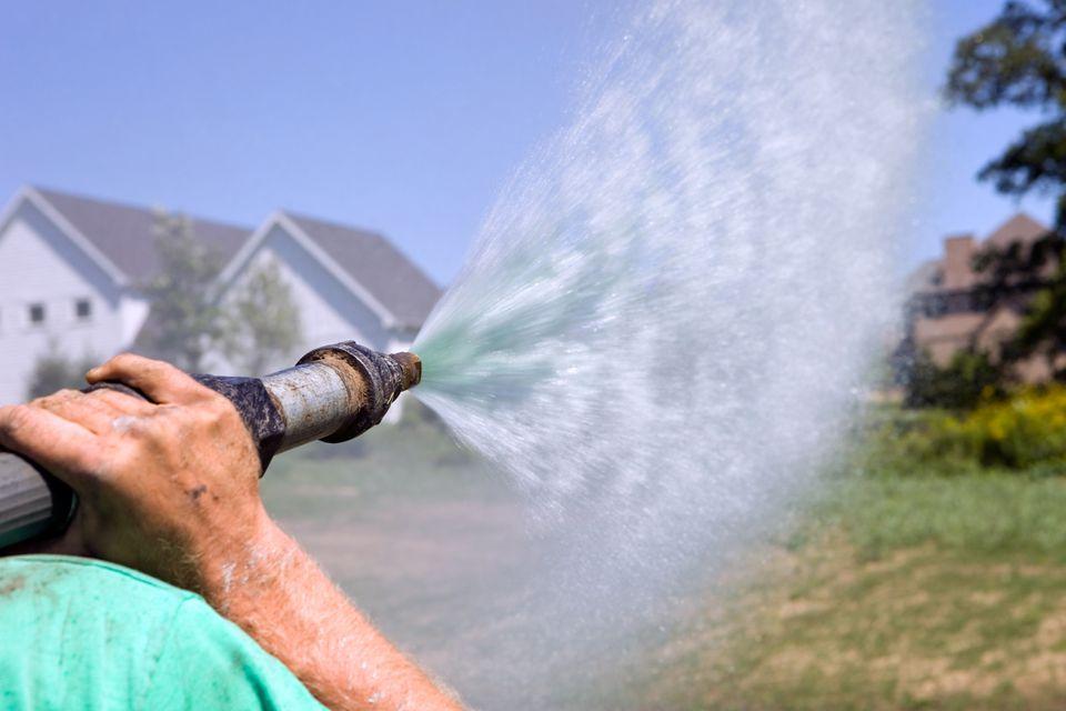 Hydroseeding a new lawn