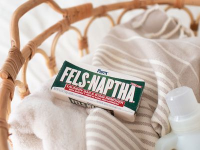 Fels-Naptha Soap in a basket of laundry