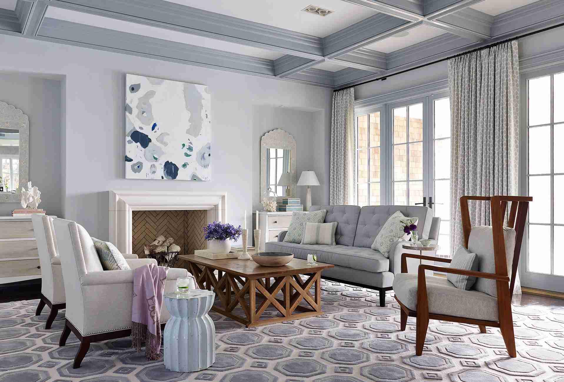 coffer ceiling unique paint job