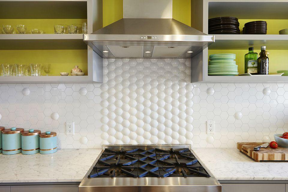 Retro Modern Tile Y Hexy Kitchen Backsplash