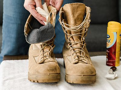 cleaning combat boots