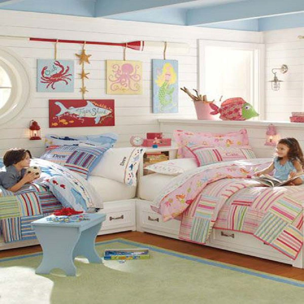 Luxury Boy and Girl Bedding for Shared Room