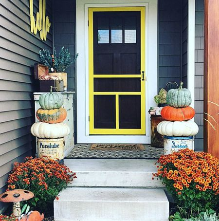 Fall Halloween Door Decor