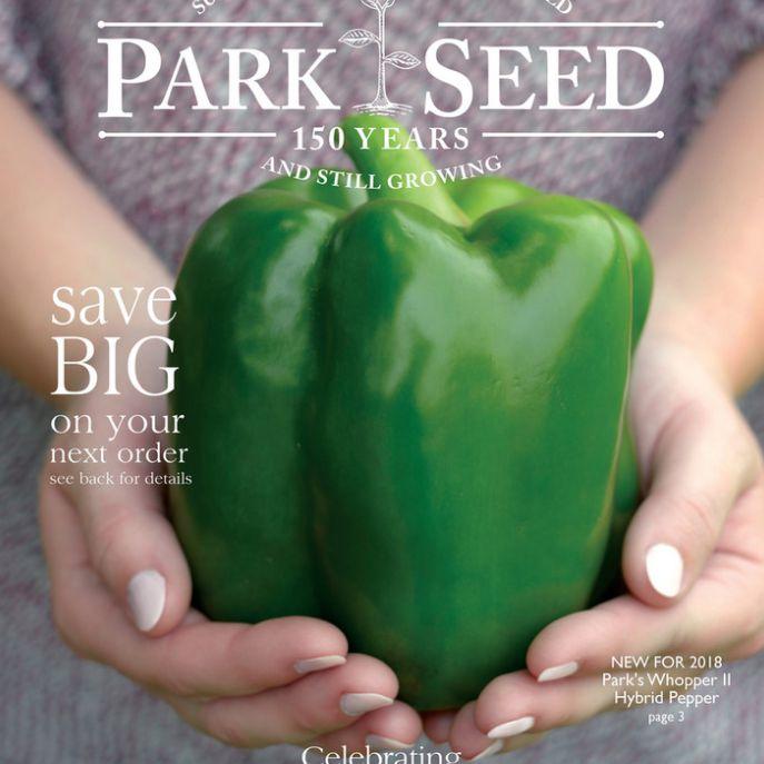 La portada del catálogo Park Seed 2018